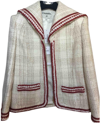 Chanel White Wool Jackets
