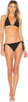 OSKLEN Side Tie Bikini Set in Black. - size L (also in M)