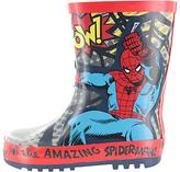 Spiderman Children's Wellington Boots, Grey/Red