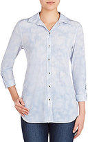 Peter Nygard Hi-Low Button Front Shirt