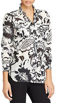 Lauren Ralph Lauren Paisley Cotton-Silk Shirt