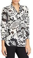 Lauren Ralph Lauren Paisley Cotton-Silk Shirt