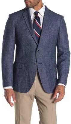 John Varvatos Baxter Check Notch Collar Wool & Linen Suit Separate Sportcoat