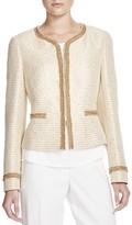 Basler Tweed Glitter Cropped Jacket