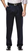 Haggar Premium No Iron Khaki - Classic Fit, Pleated Front, Hidden Expandable Waistband