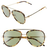 Marc Jacobs Women's 56Mm Aviator Sunglasses - Spotted Havana