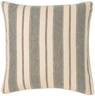 OKA Stringa Stripe Linen Cushion Cover, Large - Grey