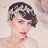 Venusvi Wedding Headbands for Bride - Bridal Headpiece with Bead and Rhinestones - Hair Accessories by Venusvi