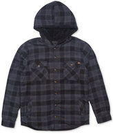 Rip Curl Men's Cassidy Flannel Plaid Shirt with Faux-Fur Lining