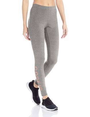 Core Products Amazon Brand - Core 10 Standard Women's Workout Cotton-Blend Legging Mauve/Black Wrap Large