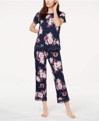 Charter Club Floral-Print Knit Pajamas Set