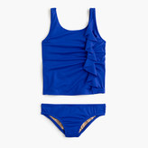 J.Crew Girls' ruffle tankini set
