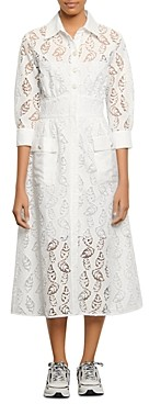 Sandro Zenali Lace Midi Dress