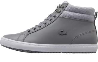 Lacoste Womens Straightset Insulate Trainers Grey/Light Grey