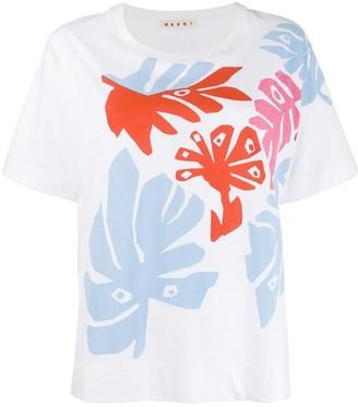 Marni leaf print T-shirt