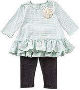 Pippa & Julie Baby Girls 12-24 Months Drop-waist Knit Dress & Leggings Set