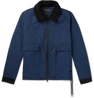 Craig Green Faux Shearling-Trimmed Cotton-Gabardine Jacket