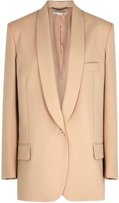 Stella McCartney Alison taupe wool blazer