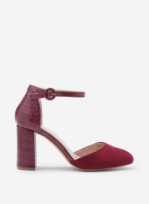 Dorothy Perkins Womens Wide Fit Burgundy 'Deena' Court Shoes
