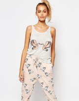 MinkPink Birds Of A Feather Pajama Top