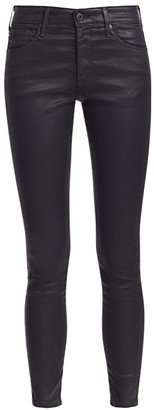 AG Jeans Farrah High-RiseAnkle Coated Skinny Jeans