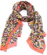 Max Mara Weekend Womens Agoram Scarf, Orange Multi Coloured Floral