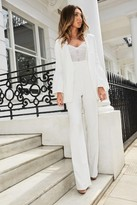 Studio Mouthy White Wide Leg Lace Jumpsuit