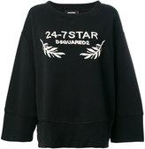 DSQUARED2 24-7 Star oversized sweatshirt - women - Cotton - S