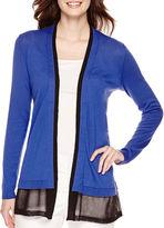 Liz Claiborne Long-Sleeve Layered Open Cardigan