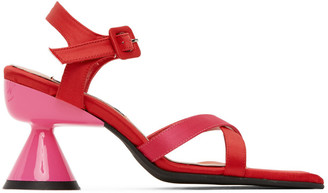 Paula Canovas Del Vas Red and Pink Diablo Heeled Sandals