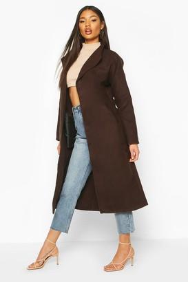 boohoo Oversized Wide Collar dressing gown Coat