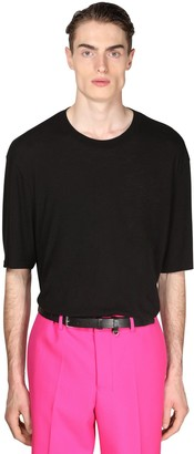 Ami Alexandre Mattiussi Oversize Light Cotton & Viscose T-Shirt