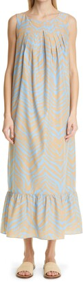 Lafayette 148 New York Zebra Print Cotton & Silk Shift Dress