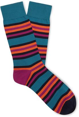 Pantherella Shibuya Striped Cotton-Blend Socks