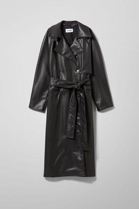 Weekday Ellinor PU Coat - Black