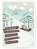 Minted Winterfest Children's Birthday Party Invitations