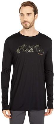 Smartwool Merino Sport 150 Upper Slopes Graphic Tee (Black) Men's T Shirt