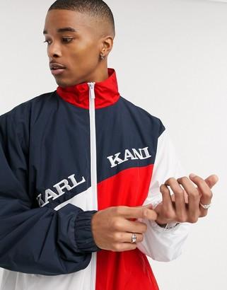 Karl Kani Retro Block track jacket in navy