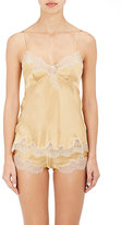 Carine Gilson Women's Lace-Trimmed Silk Satin Fitted Camisole