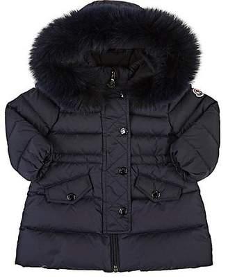 Moncler Infants' Essentiel Fur-Trimmed Down-Quilted Coat - Navy