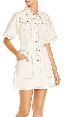 French Connection Rika Cotton Utility Mini Dress