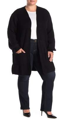 Joseph A Textured Knit Open Front Cardigan (Plus Size)