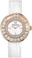 Swarovski Lovely Crystals White Rose Gold Tone Watch
