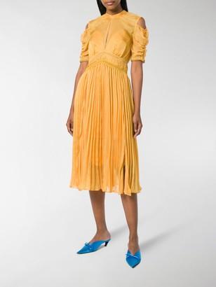 Self-Portrait Pleated Midi Dress