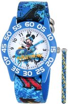 """Disney Kids' W001178 """"Mickey Mouse"""" Watch with Blue Nylon Band"""