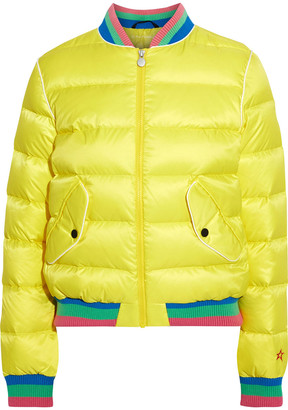 Perfect Moment Rainbow Quilted Down Bomber Jacket