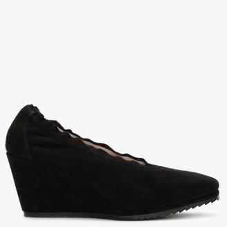 Daniele Ancarani Stretch Black Suede Wedge Shoes