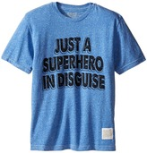 The Original Retro Brand Kids Superhero In Disguise Short Sleeve Tri-Blend Tee (Big Kids)