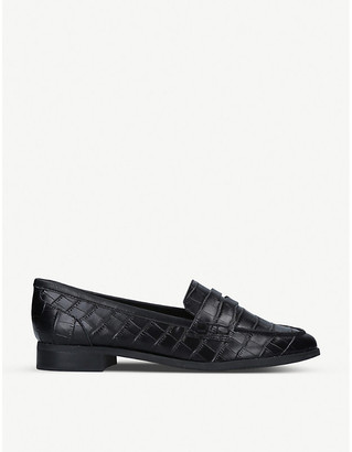 Aldo Urawen croc-embossed faux-leather loafers