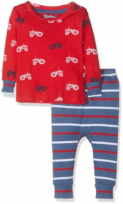 Hatley Baby Girls' Organic Cotton Pyjama Sets Blue (Scooting Dinos) (Size:6-9 Months)